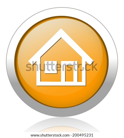 Home button / icon - stock vector