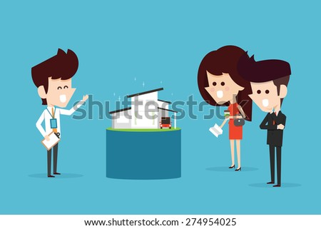 Home buyer - stock vector