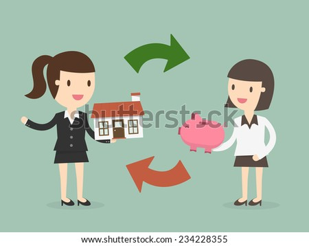Home buying - stock vector
