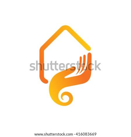 Home care logo design - stock vector