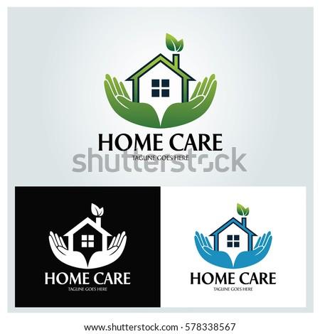 home care logo design template vector stock vector 578338567 shutterstock. Black Bedroom Furniture Sets. Home Design Ideas