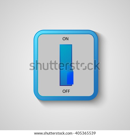 Home Circuit breaker with on-off , isolated vector interiors object. - stock vector