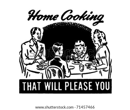 Home Cooking 4 - Retro Ad Art Banner