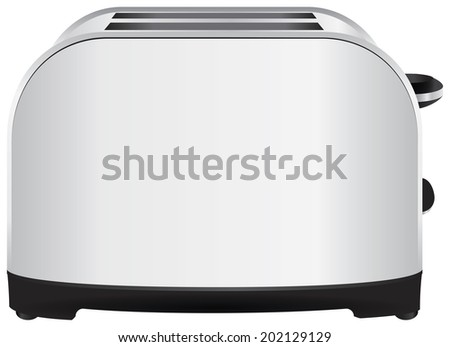 Home cooking table for bread toaster. Vector illustration. - stock vector
