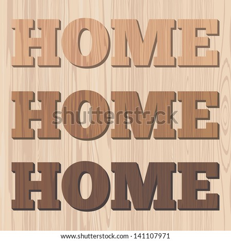 Home 3D wooden letter wall decor