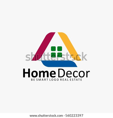 HOME DECORATION HOUSE REAL ESTATE ICON LOGO
