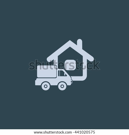 Home delivery icon. Home delivery Vector. Home delivery icon Art. Home delivery icon eps. Home delivery icon Image. Home delivery icon logo. Home delivery icon Sign. Home delivery icon Flat. - stock vector