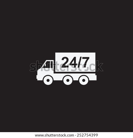 Home delivery. Truck vector icon. - stock vector
