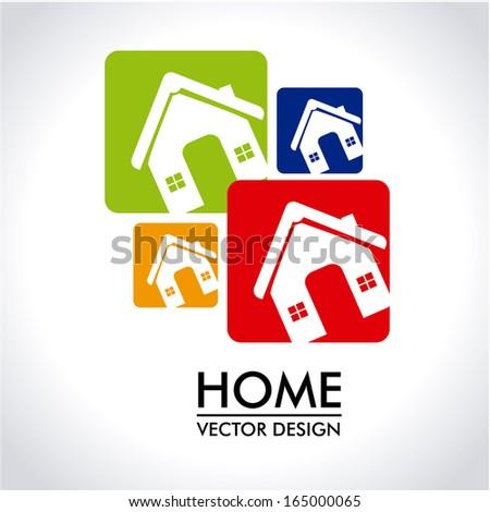 home design over gray background vector illustration   - stock vector