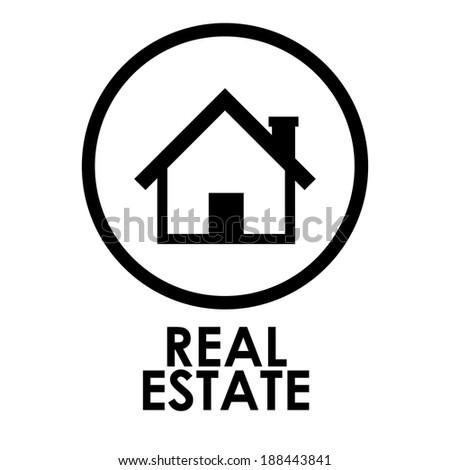 Home Design Over White Background Vector Stock Vector 188443841 ...