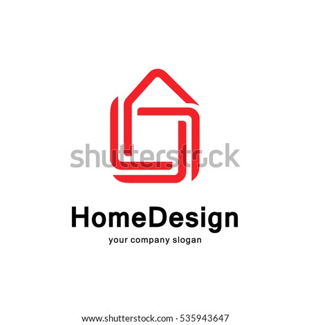 Home Design Vector Logo Concept Stock Vector (2018) 535943647 ...