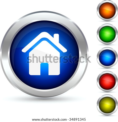 Blue home button stock images royalty free images for Detailed home search