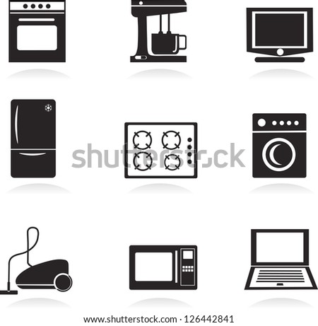 Home electrical appliances , vector illustration - stock vector