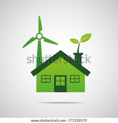 Home energy eco - stock vector