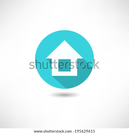 Home flat icon - stock vector