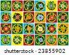 Home flowers raster image illustration /sign - stock vector