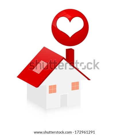 home for couple  - stock vector