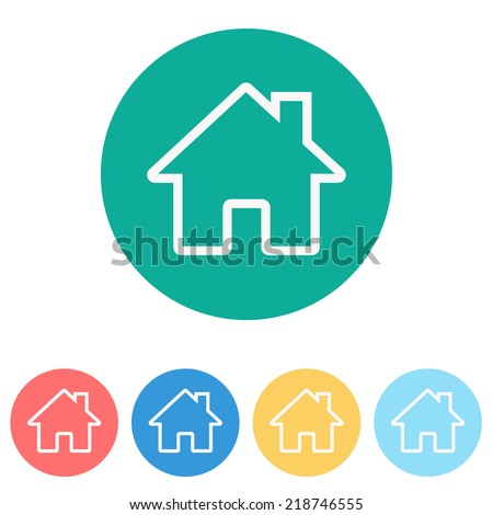 home icon - stock vector