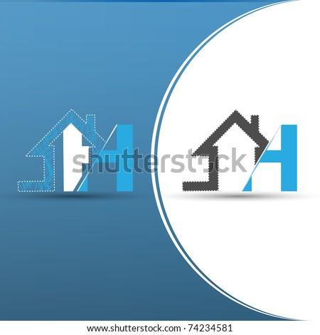 home icon design - stock vector