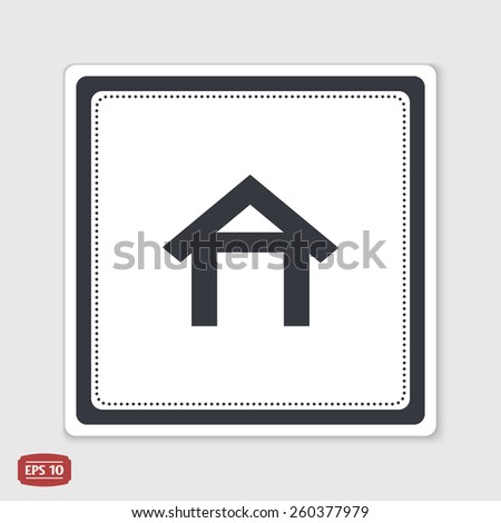 Home icon. Flat design style. Made vector illustration.  - stock vector
