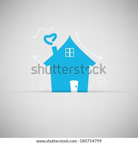 Home icon for vector - stock vector