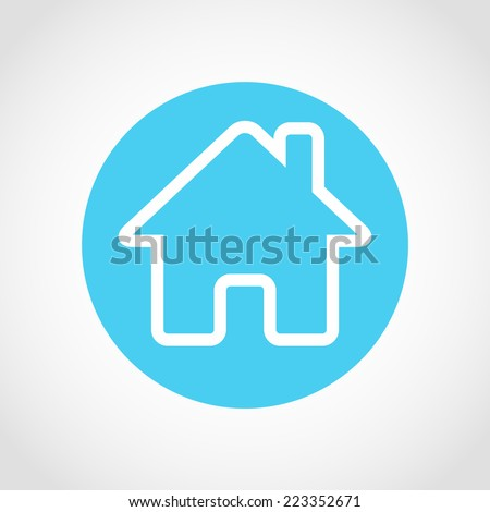 Home Icon Isolated on White Background - stock vector