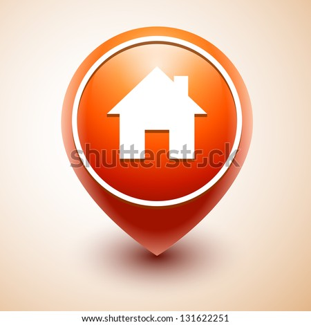Home Icon Pin Deal. Vector illustration isolated - stock vector