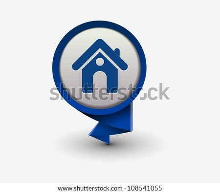 home icon, vector - stock vector