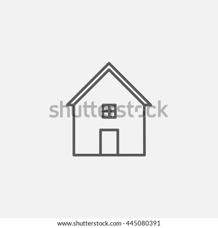 Home icon, vector