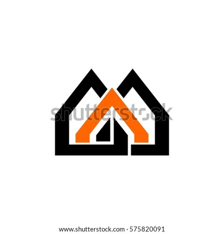 Home Icon Vector Aaa Letter Vector Stock Vector Royalty Free