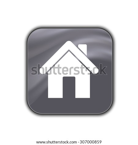 home icon - vector button - stock vector