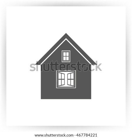 home icon, vector illustration