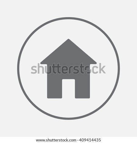 Home icon vector, solid illustration, pictogram isolated on gray - stock vector