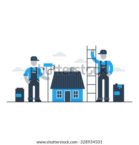 Home improvement and renovation services - stock vector