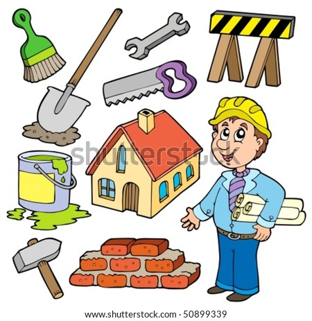 Home improvement collection - vector illustration. - stock vector