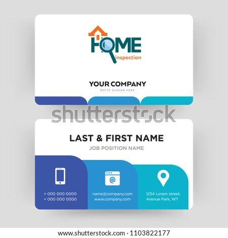 Home Inspection Business Card Design Template Visiting For Your Company Modern Creative And