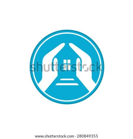 Home insurance concept logotype - stock vector