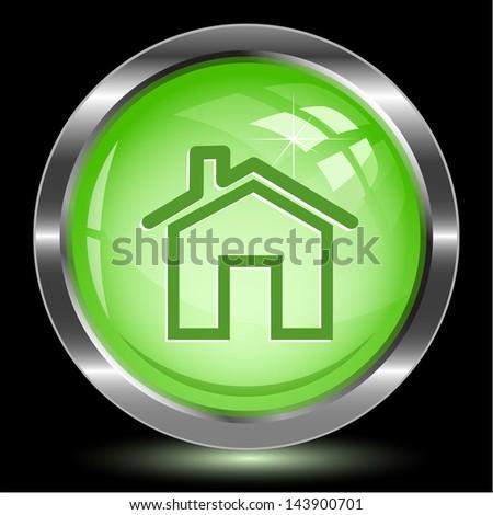 Home. Internet button. Vector illustration. - stock vector