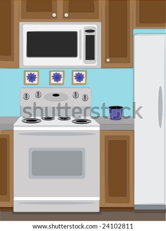 Home Kitchen oven and microwave