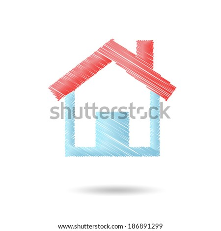 Home line vector - stock vector
