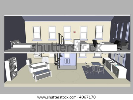 Home & Office Vector - stock vector