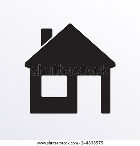 Home or house icon isolated on white background. Real estate design element. Vector illustration. - stock vector