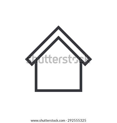 Home outline icon, modern minimal flat design style. House line symbol, vector illustration - stock vector