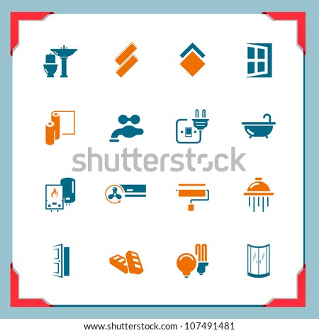 Home renovation icons - stock vector