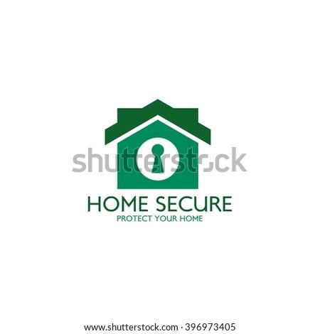 Home Security Logo Design Template Guard Stock Vector 396973519