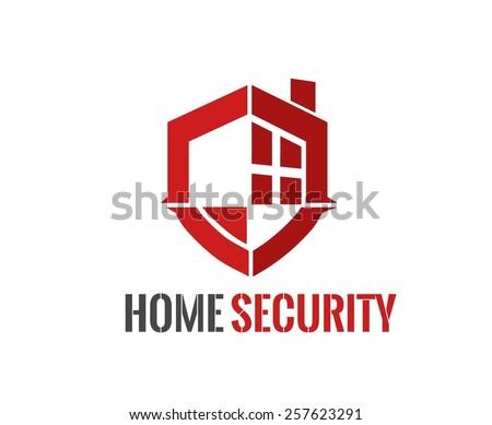Home security Logo vector illustration - stock vector