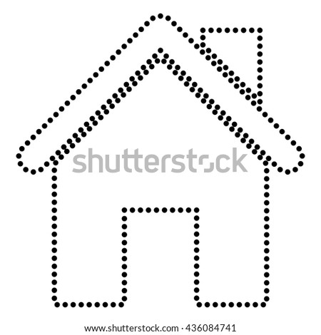 Home silhouette illustration - stock vector