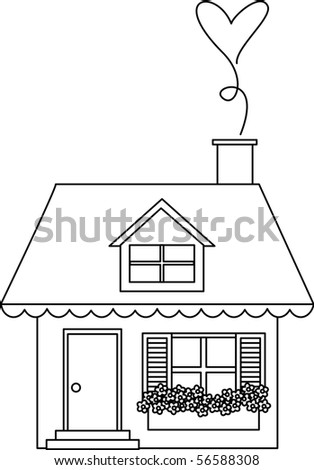 home sweet home digital image - stock vector