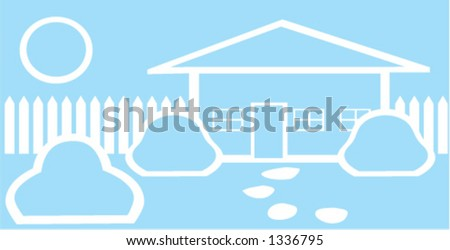 Home Sweet Home Vector - stock vector