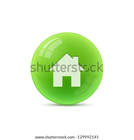 home symbol isolated - stock vector